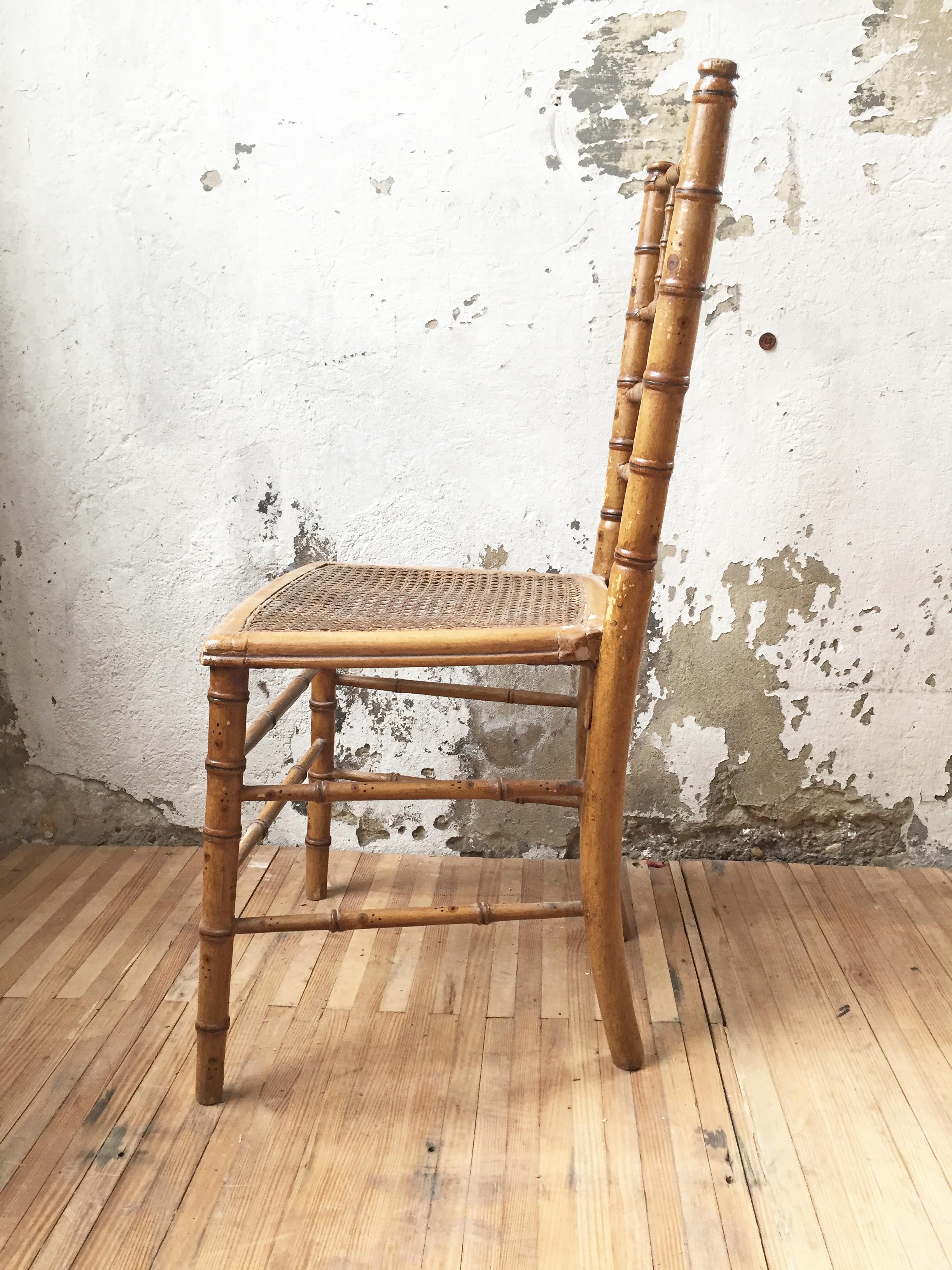 Style De Chaises Anciennes chaises napoléon 3 imitation bambou – mein lieber