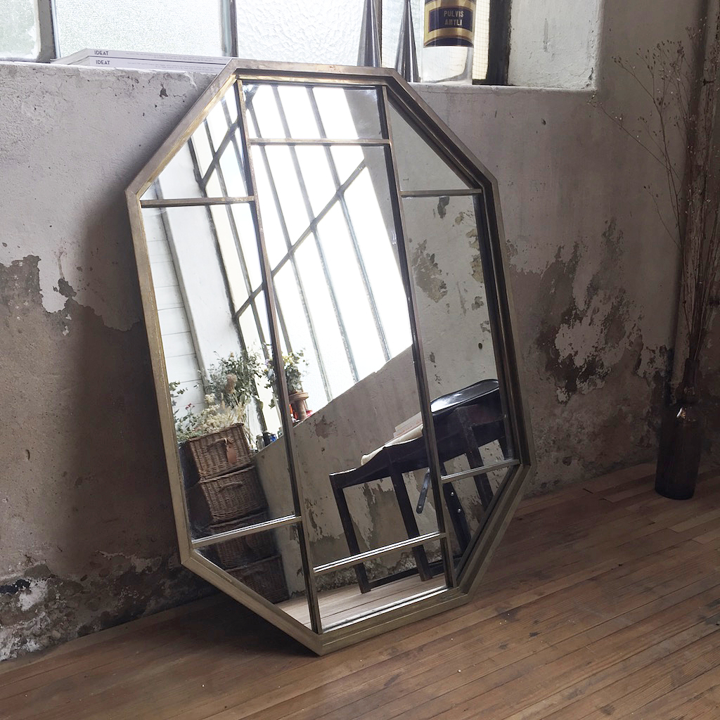 miroir laiton art d co mein lieber. Black Bedroom Furniture Sets. Home Design Ideas